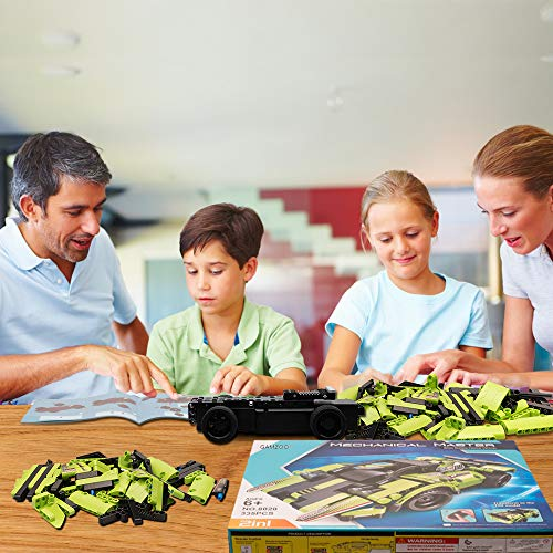 GAMZOO STEM Building Toys for Kids with 2-in-1 Remote Control Racer Snap Together Engineering Kits Early Learning…