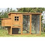 """Exacme 6010-0709 Lovupet Deluxe Wooden Chicken Coop Backyard Nest Box Pet Cage, 72"""""""