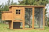 Exacme 6010-0709 Lovupet Deluxe Wooden Chicken Coop Backyard Nest Box Pet Cage, 72''