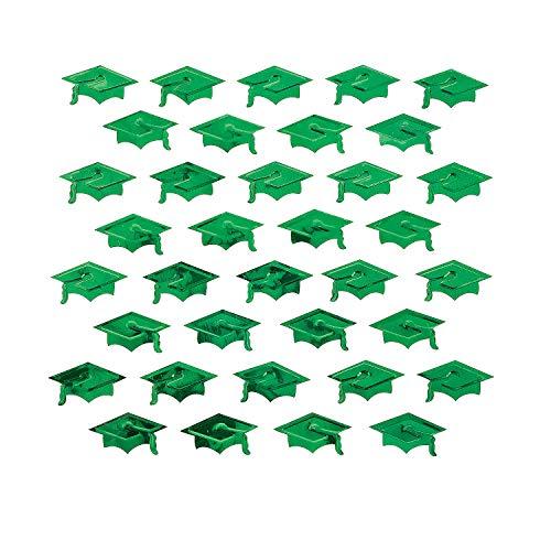- Fun Express - Green Graduation Hat Foil Confetti (2oz) for Graduation - Party Decor - General Decor - Confetti - Graduation - 1 Piece
