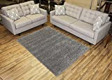 RugStylesOnline, Shaggy Collection Shag Area Rugs, 5'x7' - Gray