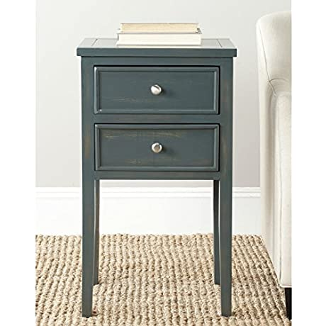 Safavieh American Home Collection Toby Steel Teal End Table