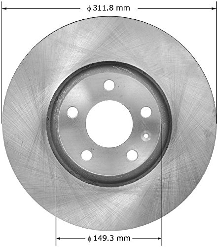 Bendix Premium Drum and Rotor PRT1945 Front Rotor ()