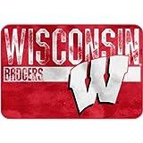 NCAA Wisconsin Badgers ''Worn Out'' Bath Mat, 20'' x 30''