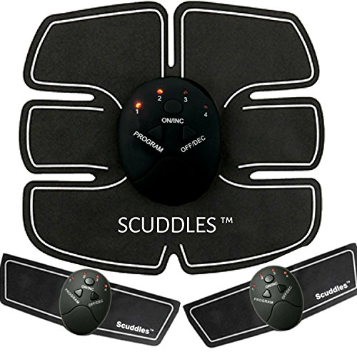 Scuddles MUSCLE TONER ABS STIMULATOR PORTABLE MUSCLE TRAINER WITH RHYTHM & SOFT IMPULSE - 6 MODES & 10 LEVELS WITH SIMPLE OPERATION - ULTIMATE ABS FOR MEN AND WOMEN by Scuddles