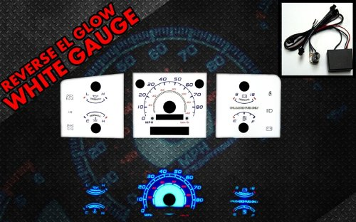 Brand New White Face Blue Indigo Reverse Glow Gauges For 92-96 F-150 F150 w/o Tach RPM (I-274)