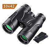 Binoculars, 10x42 Professional Compact Binoculars with BAK4 Prism FMC Lens for Outdoor Hunting, Bird Watching,...