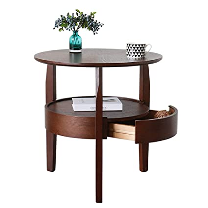 Amazoncom Coffee Tables Solid Wood Small Apartment Round Modern