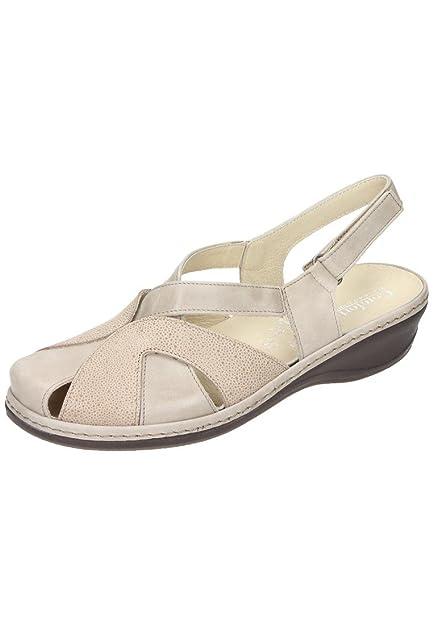 Comfortabel Damen-Sandale Beige 710799-8, Grösse 36