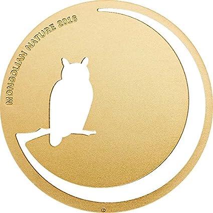 Owl 1//2 Oz Silver Coin Mongolia 2016 500 Togrog Mongolian Nature