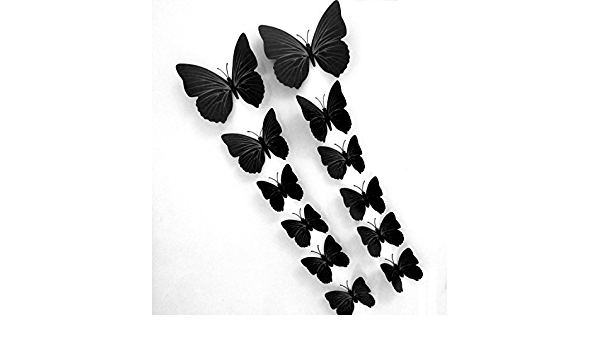 12pc Home 3d Butterfly Wall Stickers With Magnet Simple Bright Design Of Kitchen Dining