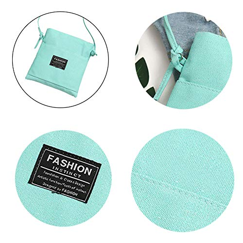 zip della Caramella morbido canvas Colore Borsa monospalla multicolored Bag borsa bag S Verde Candy Charma tessuto Fashion Messenger caramella gqZ4P4