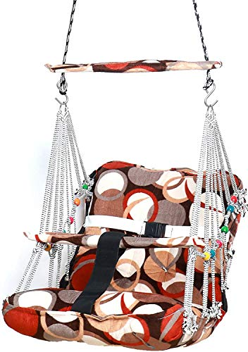 RK HUB Cotton Swing for Kids Baby's Baby Jhula Washable 1-3 Years with Safety Belt Home Garden Jhula for Babies for…