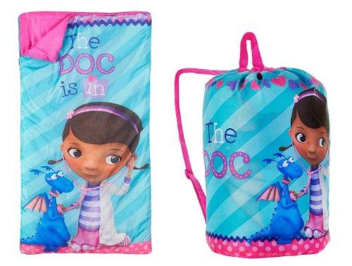 Disney Doc McStuffins Indoor Slumber Sleeping Bag for Kids w/Carry Drawstring]()