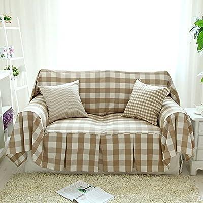 País europeo Plaid algodón toalla tapa deslizante sofá sofá cubre ...