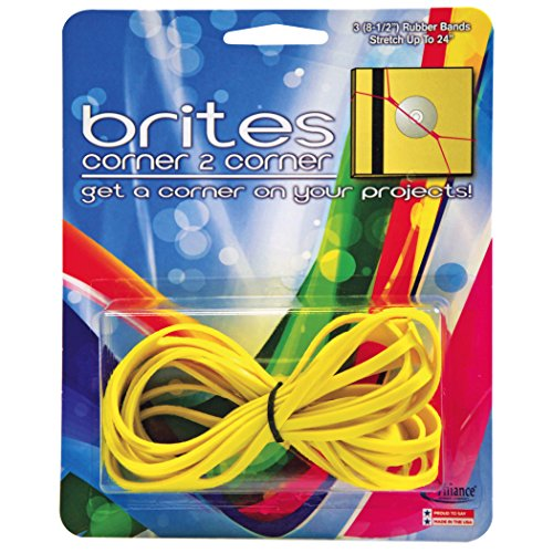 Alliance Rubber 07869 Brites Corner-to-Corner Non Latex Rubber Bands, 3 Pack (8 1/2