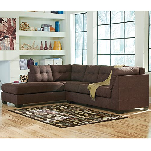 Hardwood Chaise (Benchcraft Maier Sectional with Left Side Facing Chaise in Walnut Microfiber)