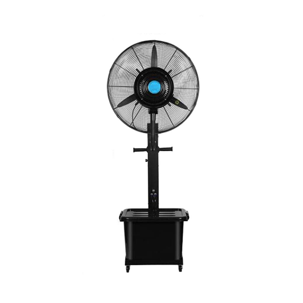 Standing Pedestal Fan Outdoor Misting Fan Oscillating Pedestal Fan Cooling Misting Spray 3-Speed/42L Water Tank Large for Industrial, Commercial, Residential, and Greenhouse (Black) by LLZ-Fan