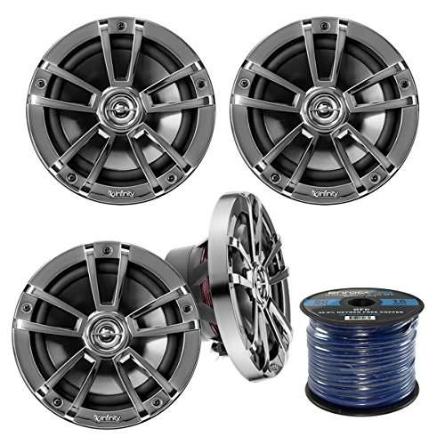 4X Infinity Reference 622m 6.5-Inch 225-Watt High-Performance 2-Way Weather-Proof Marine Boat Power Sport Vehicles 2-Way Coaxial - Vehicle Sport