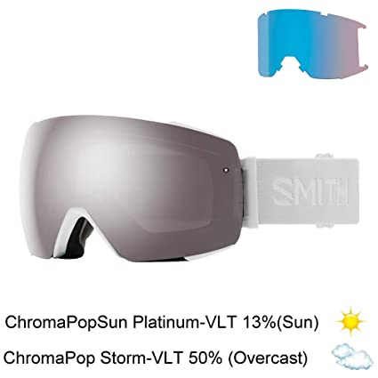 e02736fbf96 Amazon.com   Smith Optics Io Mag Adult Snow Goggles - White Vapor Chromapop  Sun Platinum Mirror   Sports   Outdoors