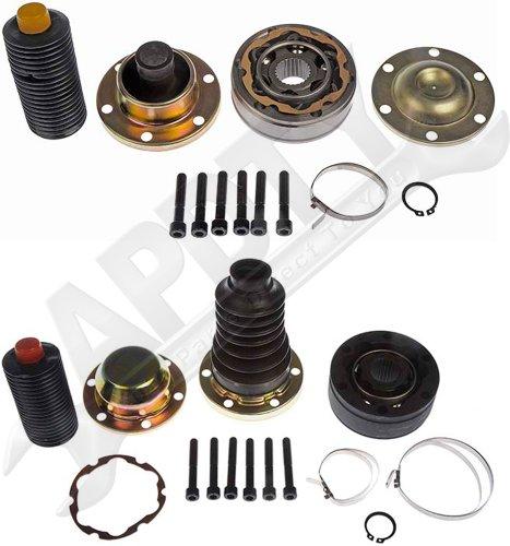 APDTY 043413 & 043412 4WD Front Driveshaft Rebuild Kit Fits