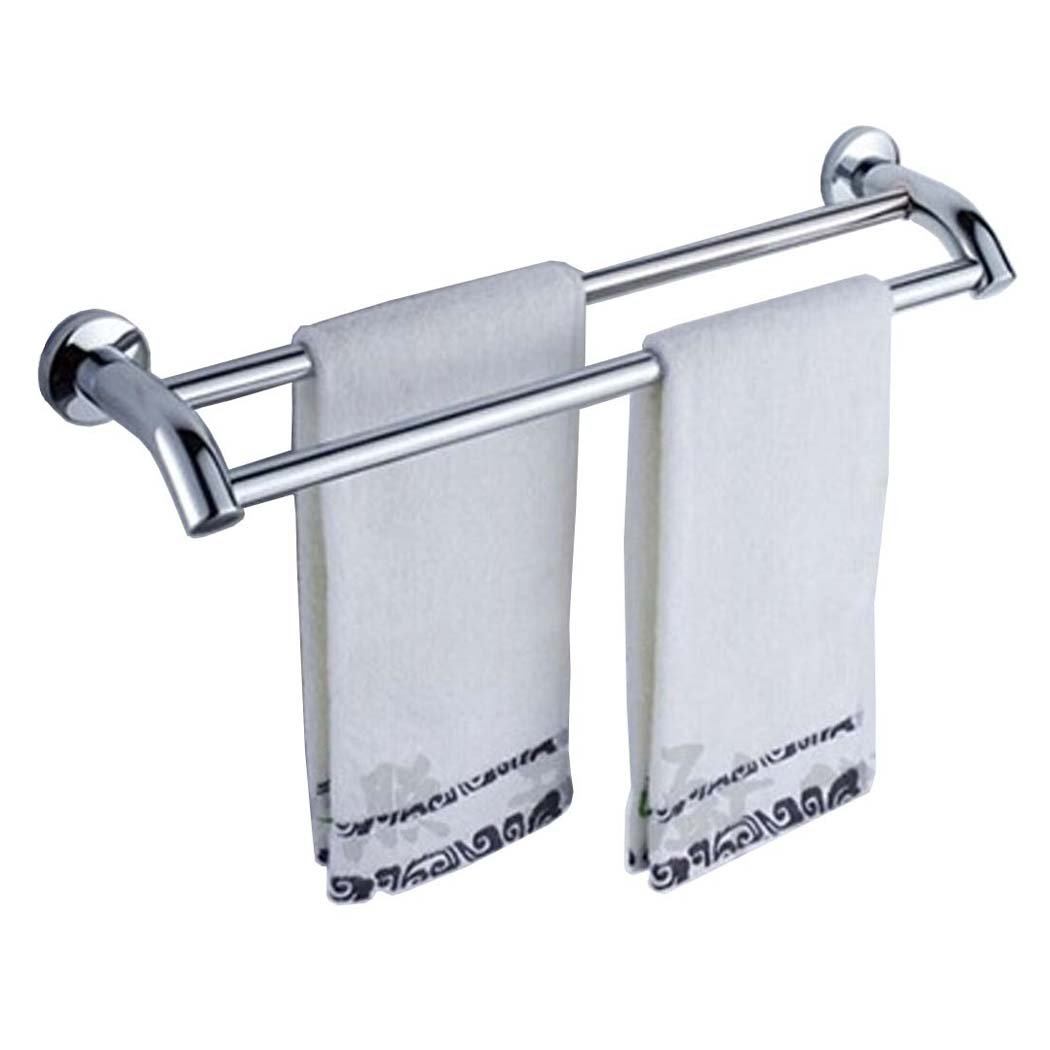 PHOEWON Towel Shelf Multi-Function Towel Rack SUS304 Stainless Steel Towel Storage Wall Mounted Bath Towel Rail, Single Towel Bar for Bathroom (Single Bar) Eriva