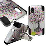 Google Nexus 5 Case, CoverON® for LG Google Nexus 5 Hybrid Kickstand Case [Dual Defense] Hard Heavy Duty Protective Shockproof Phone Cover - Love Tree Design
