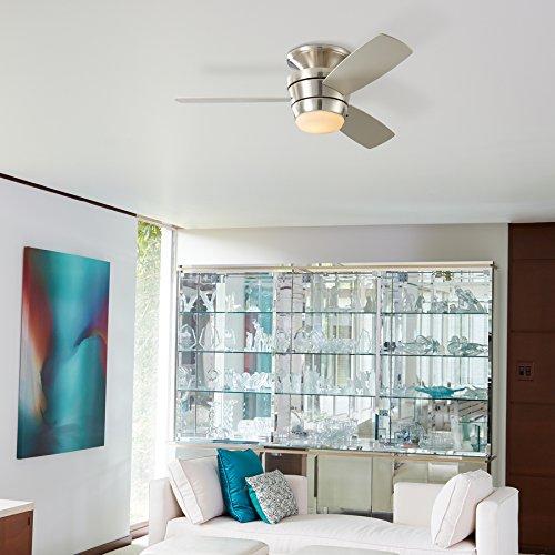 Harbor Breeze Mazon Brushed Nickel Flush Mount Indoor Ceiling Fan