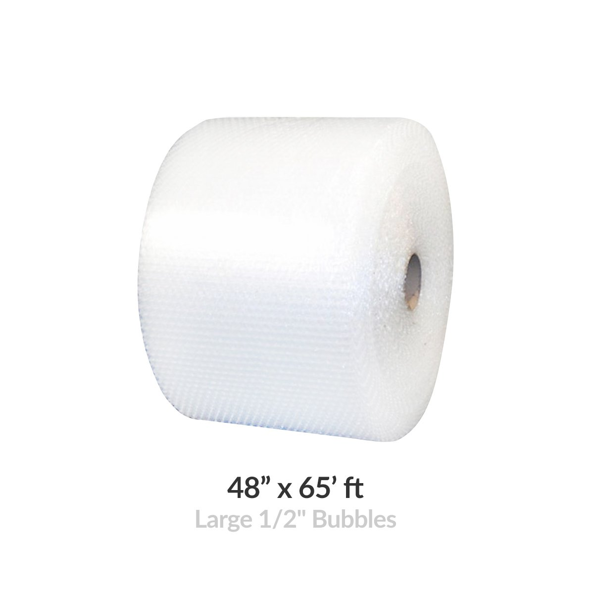 Bubble Roll Wrap - 48'' Wide x 65' - Large Bubbles 1/2'' Perforated 12''
