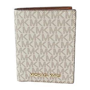 Michael Kors Jet Set Travel Passport Holder Wallet Case PVC 2019 (Vanilla PVC)