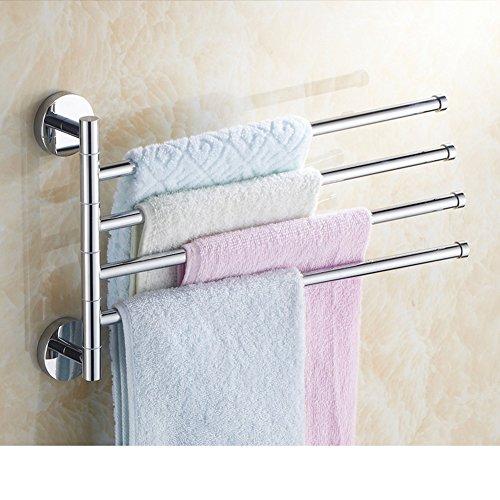 durable modeling Full rotating copper towel rack/bathroom towel rail/The bathroom Towel rack/removable Towel Bar-Q