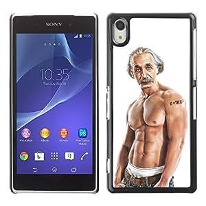 CaseLord Carcasa Funda Case - Sony Xperia Z2 / Funny Einstein Bodybuilder /