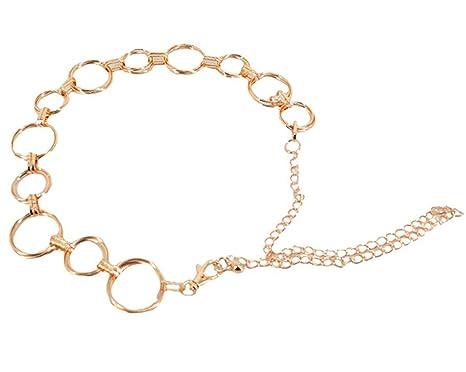 a4718cf3ff12cc Cheerlife Fashion Damen Metall Taille Kette Gürtel Taillengürtel Hüftgürtel  Kleidgürtel Kettengürtel Kleid Dekoration Gold: Amazon.de: Bekleidung