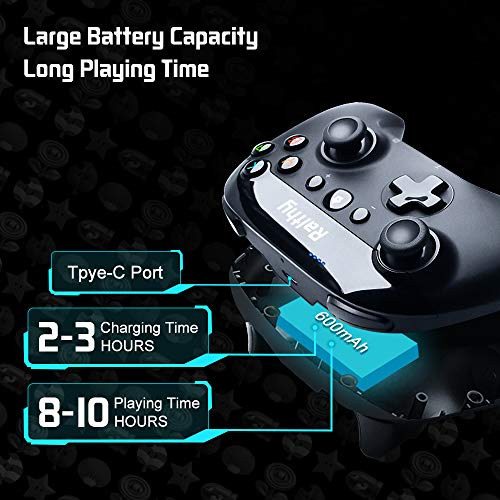 Ralthy Wireless Pro Controller for Nintendo Switch/Switch Lite Remote Joypad Gamepad Support Turbo, Dual Shock and Gyro Axis[New Version]