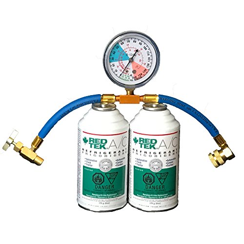 2 Cans - RED TEK A/C Refrigerant (6 Oz. Can) with Installation for sale  Delivered anywhere in USA