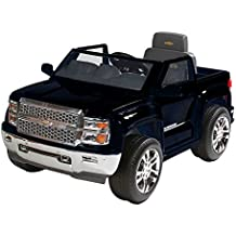 Rollplay Chevy Silverado 6-Volt Battery-Powered Ride-On, Black