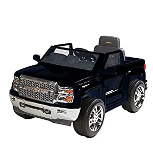 Chevy Power Wheels >> Rollplay W460 C02 6 Volt Chevy Silverado Truck Ride On Toy Battery Powered Kid S Ride On Car Black