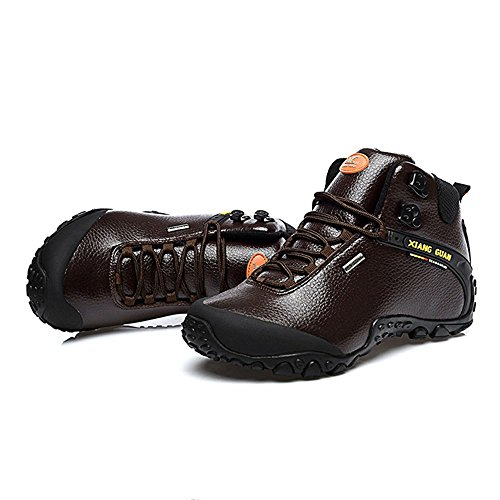 fashion Stivaletto Marrone sport top A Guannew leather outdoor high Style Pantofole caffè Xiang Donna w4Zv56qx