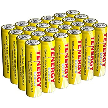 Amazon.com: Tenergy AA Rechargeable NiCD Battery, 1.2V