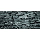 "Dark Silver Flat Rock / HD Stone Aquarium Background 21"" x 60"" / 100 Gallon and more / Rocky Fish Tank Background"