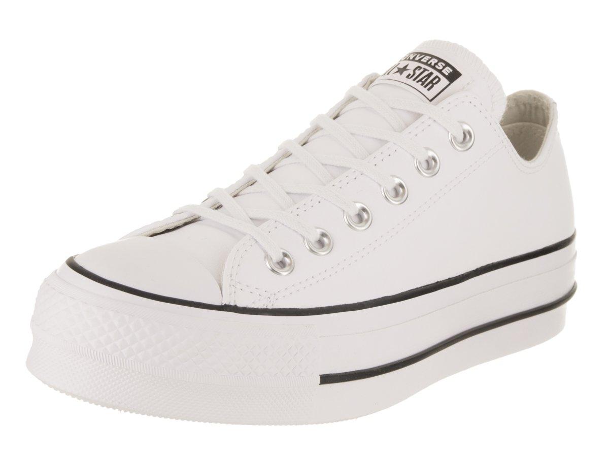 Converse CTAS Lift Clean Ox Black/White, Zapatillas para Mujer 36 EU|Blanco (White/Black/White 102)