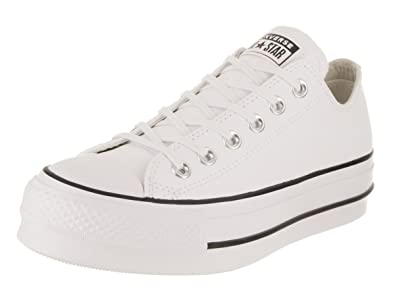 1fac0715fc2 ... official converse womens chuck taylor all star lift clean low top white  black white f5b0a 49053