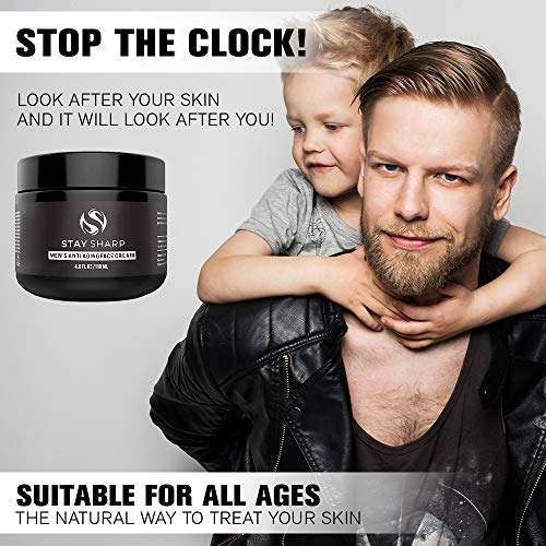 51j0TY%2BR3qL - Anti Aging Face Cream For Men - Mens Face Moisturizer and Facial Lotion for Younger Looking Wrinkle Free Skin - 4oz