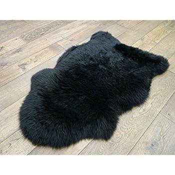 black sheepskin rug. Sheepskin Rug One Pelt Black Fur 2x3 Amazon.com