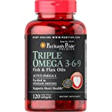Puritan's Pride Triple Omega 3-6-9 Fish & Flax Oils-120 Softgels