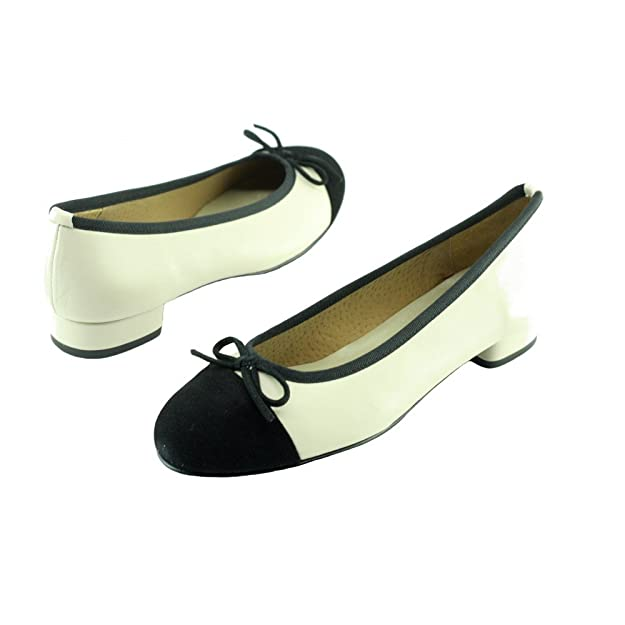 Angelina® Olivia Chaussures Femme Ballerine A Talon Bout Daim Noir Marque  Cuir Lisse Beige  Amazon.fr  Chaussures et Sacs c6a357c2ae6d