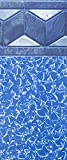 Smartline 24-Foot Round Liner | 52-Inch Wall Height | UniBead Style | Designed for Steel Sided Above-Ground Swimming Pools