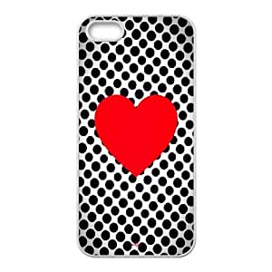 Polka Dot Design iPhone 4 4s Cell Phone Case White as a gift I704859