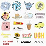 20 Cute Funny VSCO Girl Stickers for Water Bottles,Laptops Big