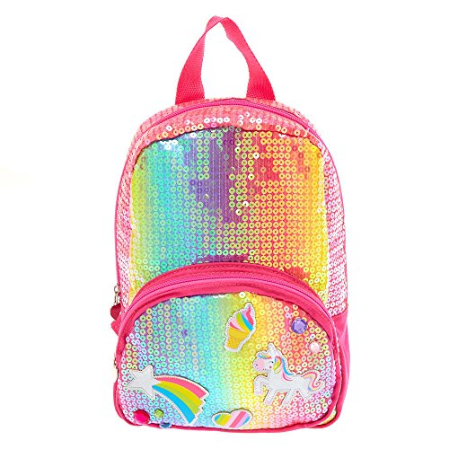 Claire's Girl's Kids Rainbow Unicorn Sequin Backpack
